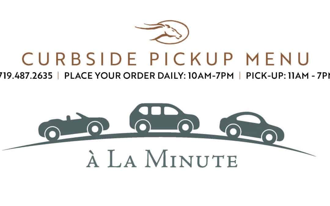 Limited Time May 2020 Curbside Pickup Menu